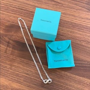 Tiffany sterling silver infinity necklace